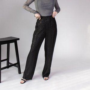 Vintage 80s silk sequin shimmer trouser pants